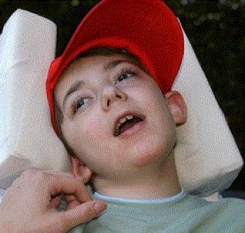 Luca tetraplegique et aveugle